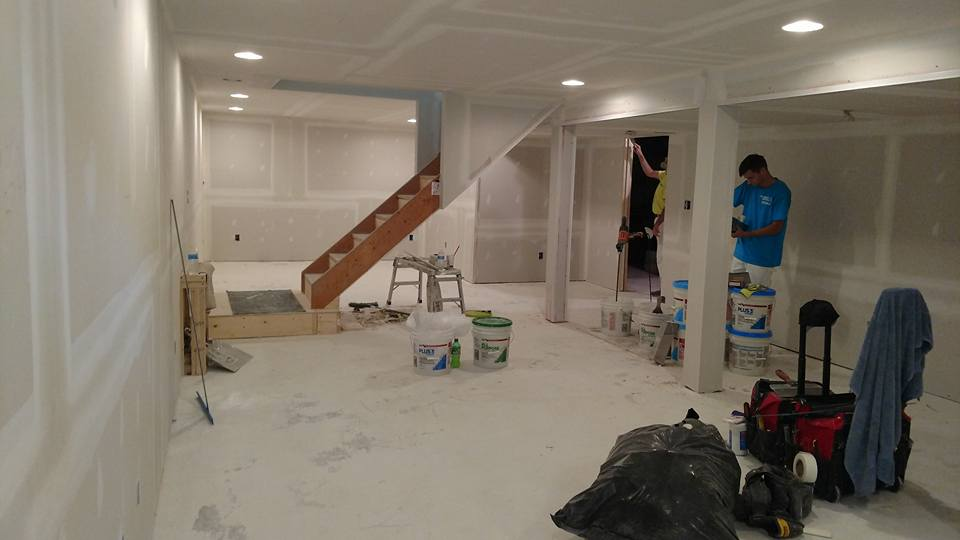 Finished Basement Drywall